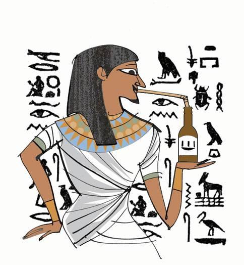 Los egipcios a n ten an que beber la cerveza con ca a debido a la gran cantidad de restos que quedaban flotando en la cerveza.