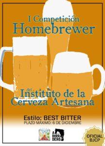 «I Concurso Homebrewer – Best Bitter» organizado por el Instituto de la Cerveza Artesana
